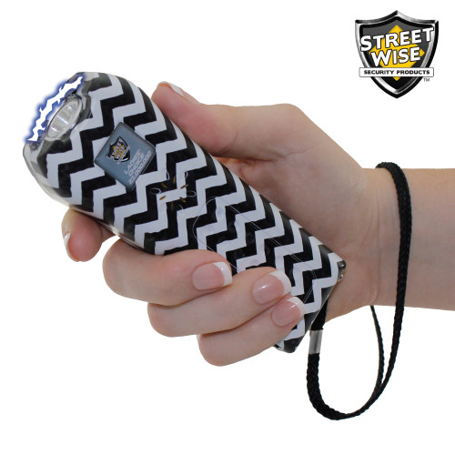 Streetwise Ladies' Choice 21000000 Stun Gun Black and White Checks In Hand