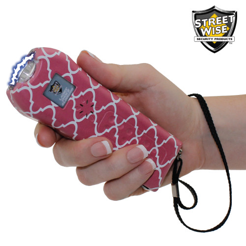 Streetwise Ladies' Choice 21000000 Stun Gun White and Coral In Hand