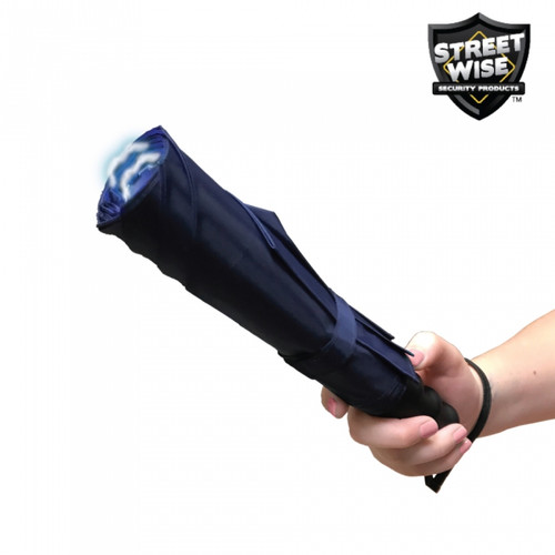 Streetwise Stunbrella 32,000,000 Stun Flashlight BLACK & NAVY In Hand