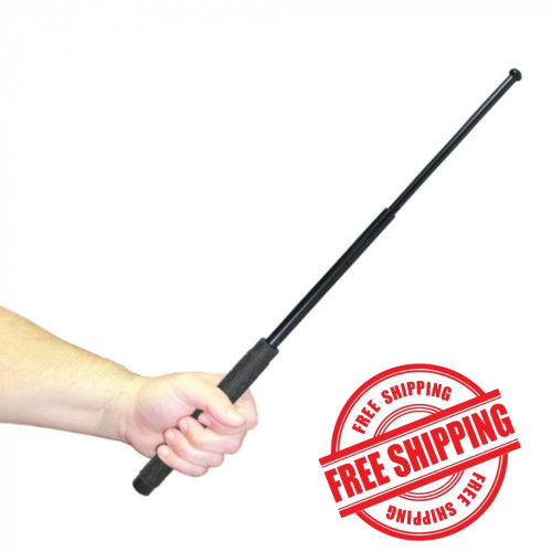 """Police Force 26"""" Expandable Steel Baton in hand"""