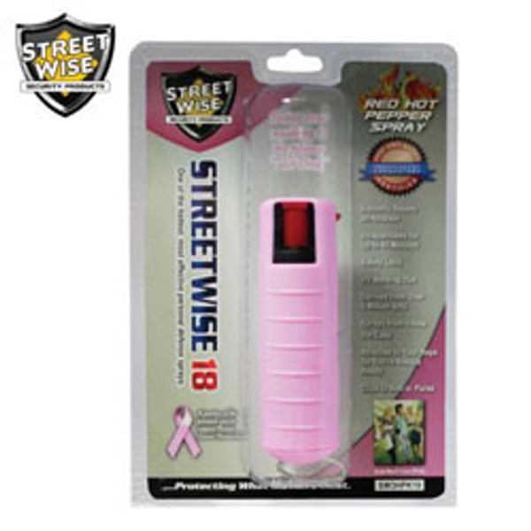 TWIN PACK - Streetwise 18 Pepper Spray 1/2 oz HARDCASE PINK 2