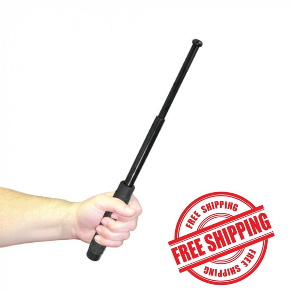 """Police Force 16"""" Expandable Steel Baton in hand"""