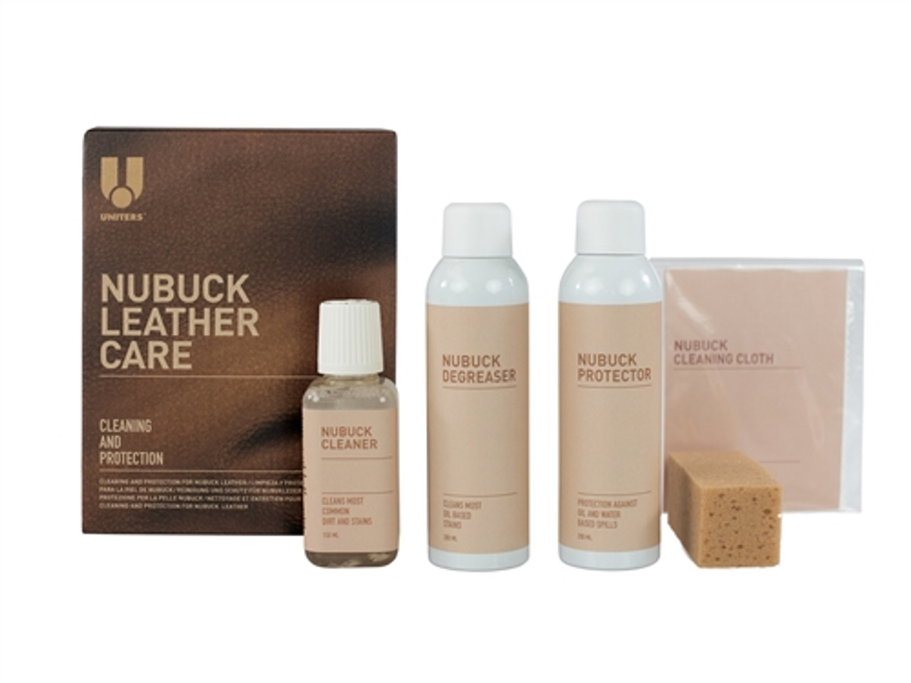 Leather Master Nubuck Cleaning Kit with Nubuck Degreaser