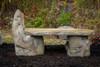 outdoor garden bench, concrete bench, western ceder garden bench, rustic wood bench, stone bench, Stone Lounge Bench, Cast Stone Garden Bench, Concrete Outdoor Memorial Bench, hand sculpture, stone bench
