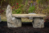 outdoor garden bench, concrete bench, western ceder garden bench, rustic wood bench, stone bench, Stone Lounge Bench, Cast Stone Garden Bench, Concrete Outdoor Memorial Bench, hand sculpture, stone bench