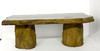 large wood bench, concrete bench, outdoor table, coffee table, concrete table, outdoor bench, garden bench, wood bench, fossilized wood, tree stump, cast stone bench