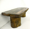 wood bench sculpture, concrete bench, outdoor table, coffee table, concrete table, outdoor bench, garden bench, wood bench, fossilized wood, tree stump, cast stone bench