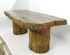 "Cast Stone, Fossilized Stone Bench ""Petrified Wood Table"""