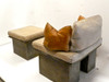 concrete bench, sofa bench, stone sofa bench, outdoor bench, cast stone bench, outdoor seat, outdoor couch,