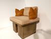 concrete garden bench, sofa bench, stone sofa bench, outdoor bench, cast stone bench, outdoor seat, outdoor couch, decorative garden bench