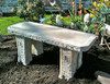 Straight Stone Garden Bench, Cast Stone Bench, Garden Rock Bench, Classical Garden Bench, Victorian outdoor furniture, concrete bench, stone patio bench