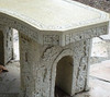 Concrete bench, Small Curved Stone Bench, Curve Garden Bench, Cast Stone Bench, Castle Bench, Victorian outdoor bench, patio furniture, bistro set