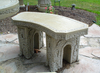 Curve concrete bench, garden bench, concrete bench, Small Curved Stone Bench, Curve Garden Bench, Cast Stone Bench, Castle Bench, Victorian outdoor bench, patio furniture, bistro set