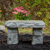 """Granite Bench"" Memorial Garden Bench, Handsculpted stone Bench, Concrete bench, Rock Bench, concrete patio furniture, light weight garden bench"