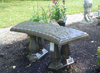 Curved Angel Bench, Memorial Bench, Cemetery Bench, Stone Bench, Angel Garden Bench, Concrete Bench