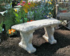 cement garden bench, concrete bench, Small Grapevide Curved Bench, Decorative Bench, Ivy stone bench, patio bench