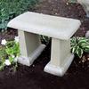 garden bench, concrete bench, patio bench, stone bench, ivy bench, small garden bench, outdoor furniture