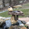 Balancing Rock Birdbath, Stone Bird Baths, Bird Bath Fountains, Birdbath Feeders, Outdoor Decor, Stone sculpture, balancing rock sculpture, Water feature, Tiered pond less feature, pond less water fountain,Stone Bird Baths, Bird Bath Fountains, garden birdbath