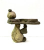 Balancing stones, Balancing Rock Birdbath, Stone Bird Baths, Bird Bath Fountains, Birdbath Feeders, Outdoor Decor, Stone sculpture, balancing rock sculpture, Water feature, Tiered pond less feature, pond less water fountain,Stone Bird Baths, Bird Bath Fountains, garden birdbath
