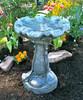 Flowering Bird bath, Athena Garden hand sculpted birdbath, cast stone ornate statuary, bird bath staturary, bird bath sculpture, Flowering Hand Sculpted Birdbath