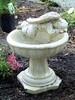Casted Stone Angel one piece birdbath, athena garden bird bath, concrete decorative angel, small angel birdbath, concrete angel bird bath, Birdbath with Resting Angel