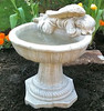 "Angel one piece birdbath, athena garden bird bath, concrete decorative angel, small angel birdbath, concrete angel bird bath IMG_1551.jpg"" alt=""Birdbath with Resting Angel, made in U.S.A, Concrete, Cast Stone"