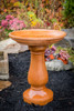 Sculpted birdbath, Simply Divine athena garden cast stone bird bath, two piece concrete bird bath, contemporary bird bath, concrete birdbath, terracotta birdbath