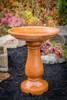 Hand made, Simply Divine athena garden cast stone bird bath, two piece concrete bird bath, contemporary bird bath, concrete birdbath, terracotta birdbath