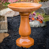 Cement Simply Divine athena garden cast stone bird bath, two piece concrete bird bath, contemporary bird bath, concrete birdbath, terracotta birdbath