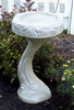 Cast Stone Two piece fountain, Tulip Bird Bath Athena Garden, Cast Stone two piece concrete bird bath, stone water feature, Tulip Bird Bath Athena Garden, Cast Stone two piece concrete bird bath, stone water feature