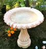 Hand sculpted bird bath, Small Fancy Column cast stone bird bath, athena garden classical bird bath, two piece ornate statuary