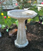 "Large Octagon bird bath, contemporary one piece bird bath, modern one piece bird bath, modern birdbath, concrete staturary LS-510.jpg"" alt=""Large Octagon Birdbath, cement one piece birdbath"