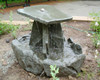 garden fountain, sculpted fountain, falling water, garden fountain, concrete fountain, patio water feature, patio fountain, large fountain