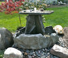 Rock tiered fountain, concrete water fountain, concrete fountain, stone water feature, Stone Fountain, Garden Fountain, Water feature precast concrete, Tiered pond less feature, pond less water fountain