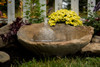 stone garden fountain, Cast Stone, hand sculpted, Concrete Water Feature, two piece Fountain, concrete fountain, stone water fountain, round concrete fountain