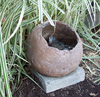 Contemporary Oval Fountain, hand sculpted fountain, concrete fountain, cast stone fountain, cement fountain, indoor fountain, outdoor fountain, garden fountain, patio water feature