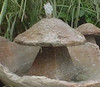 "Staddle Stone Fountain, ""garden fountain, garden fountains, sculpted fountain, falling water, garden, patio, yard, large fountain, small fountain, mirror fountain, contemporary   fountain, staddle stone fountain"" concrete fountain"