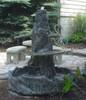 Rustic outdoor garden fountain, Lg.Two Tier Fountain, concrete fountain, cement fountain, cast stone fountain, hand sculpted fountain