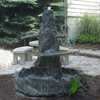 Concrete Large Outdoor Fountain, Lg.Two Tier Fountain, cast stone fountain, rock fountain, patio fountain, garden fountain, concrete fountain, stone fountain