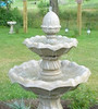 Large Two Tier Fountain, Flowering Two Tier Fountain, Concrete tiered fountain. Garden water feature, cast stone fountain, large tier fountain, concrete fountain