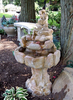 Concrete Rock Fountain, Rock Water Fall Fountain, garden fountain, Stone Fountain, Garden Fountain, Water feature, Tiered pond-less feature, pond-less water fountain