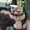 "Stone Concrete Waterfall, Garden Fountain,Rock Water Fall Fountain , stone garden fountain,Stone Fountain, Garden Fountain, Water feature, Tiered pond less feature, pond-less water fountain, Clifford Frederick rock Fountain"""
