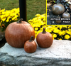 DIY Concrete Pumpkins, Set of 3 Stone Pumpkins Stone Pumpkins Athena Garden, Cast stone garden pumpkins, outdoor concrete pumpkins, halloween outdoor decorations, Fall Pumpkin Decor