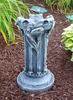 Concrete gazing ball stand, outdoor garden decor, The Roman column & scrolls add a touch of European flare to your garden. Purchase a Glass Gazing