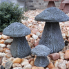set 3 Staddle Stone English, English Garden Staddle Stone, hand sculpted mushroom, rock mushroom, Staddle Stone English, English Garden Staddle Stone, hand sculpted mushroom, rock mushroom