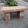 Four foot garden bench, outdoor furniture, memorial stone bench, Garden Bench, Commercial concrete bench,