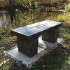 Straight concrete bench, memorial bench, Four foot garden bench, outdoor furniture, memorial stone bench, Garden Bench, Commercial concrete bench
