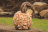 The Lazaurus Pumpkin is made from Cast stone concrete and has great attention to detail with warts over the entire pumpkin. Hand sculpted rustic stem is perfect for Fall and Halloween decoration