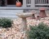 hand sculpted bird bath, concrete bird bath, rose bird bath, stone bird bath, garden bird bath, outdoor water feature, cast stone bird bath, bird feeder