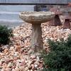 concrete bird bath, rose bird bath, stone bird bath, garden bird bath, outdoor water feature, cast stone bird bath, bird feeder